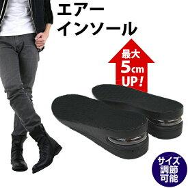 シークレットインソール 5cm 身長UP 靴 インソール シークレット 中敷き エアー インソール 革靴 スニーカー secret メンズ レディース AM-AIRINSOLE [ 2cm 3cm インソール 身長 アップ 脚長 エアーインソール シークレットシューズ ]