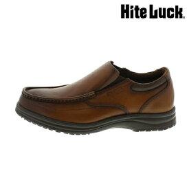 アシックス [ ハイテラック ] ウォーキングシューズ[ HiteLuck シューズ ]( ウォーキング/メンズシューズ ) シューズ/メンズ/IL-131 [ カジュアル 靴 シンプル コンフォート 紳士用 レザー 本革 スリッポン 軽量 フレキシブル 消臭 ブラック 黒 ]