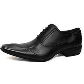 [在庫限り大感謝売り尽くしSALE] ビジネスシューズ 合成皮革 靴 メンズ 靴 レザーシューズ 大人気 シューズ 紳士用 ビジネス 通気性 防水 ブランド PUレザーラスアンドフリス 内羽根ななめチップ ビジカジシューズ