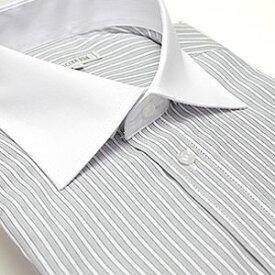 上質綿混 ワイドカラー 長袖 ワイシャツ Yシャツ 形態安定 メンズ 長袖ワイシャツ 結婚式 ビジネス 白 グレー ワイド クレリック ストライプ フォーマル ドレスシャツ カッターシャツ おしゃれ 秋 冬 大きいサイズ 制服 通勤 S M L LL 3L スリム