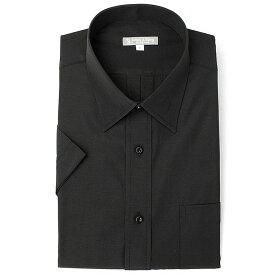 [スーパーSALE10%OFF]上質綿混 セミワイドカラー 半袖ワイシャツ Yシャツ 半袖 ワイシャツ 形態安定 メンズ ビジネス 黒 黒シャツ ブラック 無地 クールビズ ストライプ 大きいサイズ 制服 カッターシャツ ドレスシャツ S M L LL 3L ユニフォーム あす楽 春夏
