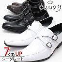 10%OFF 7cmUP シークレット ビジネスシューズ 合成皮革 靴 メンズ 靴 大人気 シューズ 紳士用 ビジネス 通気性 ブランド PU革レザーサイズ種類 スワールモカシン モンクストラップ シークレットシューズ