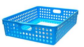 イノマタ化学 ストックバスケットA4 ブルー