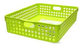 イノマタ化学 ストックバスケットA4 グリーン