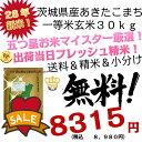 28年 新米 茨城県産 あきたこまち 玄米 30キロ 一等米【米30キロ 送料無料】