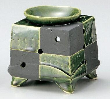 日本六古窯「常滑焼き」茶香炉 市松 織部 和食器