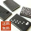 名刺入れ カードケース レディース メンズ 名入れ対応 紀州蒔絵 皮 ステンレス 猫 桜 当店オリジナル商品