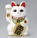招き猫 白小判 右手 4号 貯金箱サイズ違い・色違いも取り揃えています かわいい 日本六古窯 常滑焼 国産 日本製 和食器