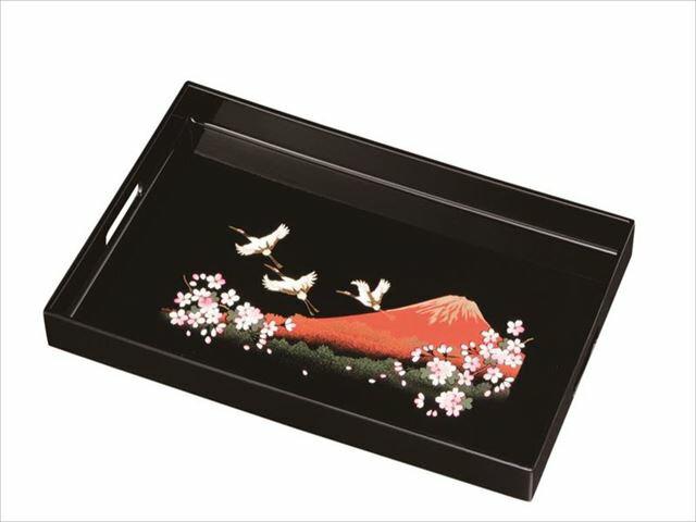 15.0長手盆 一富士二鶴三桜