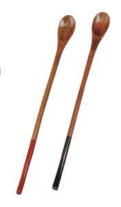 おしゃれ かわいい 木製 塗分 マドラー 赤/黒 お子様用にも最適 和菓子 ヨウカン用に最適 和食器