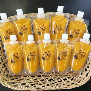 ヤマグチ食品:国産果汁100%「飲むゼリー10個入り(みかん/りんご)」