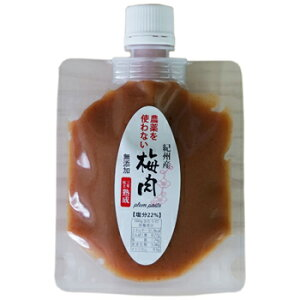深見梅店:3年熟成の農薬を使わない梅干しから作る「農薬を使わない梅肉(100g×4個)パウチパック」
