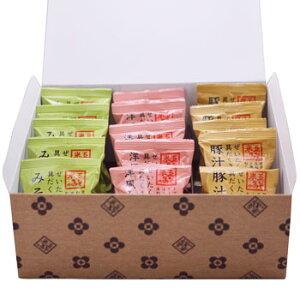 米五:味は豊富な4種類「フリーズドライ越前おみそ汁(20食セット)」