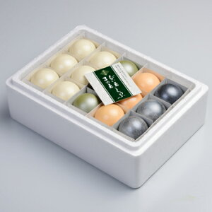 【送料無料】百万石商事「百万石まゆ玉とうふセット 15個入り」(クール冷蔵便) 白、黒ごま、抹茶、ウニの4種類が楽しめます