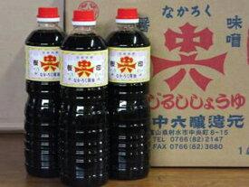 中六醤油「桜印醤油 1L6本箱入」 富山のご当地醤油