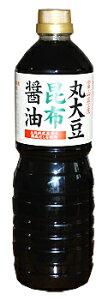トナミ醤油:富山県産エンレイ大豆・国産小麦使用 丸大豆昆布醤油1L×6本/富山のご当地醤油