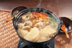 九戸屋肉店「南部かしわ地鶏 せんべい汁セット(クール冷凍便)」南部かしわ地鶏使用のせんべい汁セット