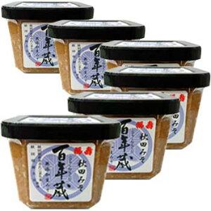 浅利佐助商店「百年蔵みそ 500g×6個」 秋田県産大豆、あきたこまち米使用の生みそ