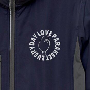 インコブルゾンリップストップフリースライナージャンパージャケットミリタリー軍ものアーミーメンズレディース小鳥鳥鳥好き雑貨デザインアニマルかわいいグッズぶんちょうbunchoプレゼントギフト白桜シルバーシナモンクリーム防風撥水