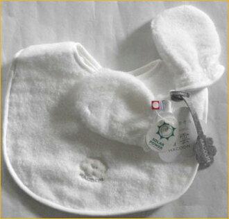 白雲嬰兒衣服嬰兒圍兜和日本製造的手套 = 禮品套裝 * 嬰兒禮品及禮品!
