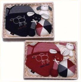 ベビーギフトセット 出産祝い 日本製 ベビー用品 ギフト 新生児 ガラガラ スタイ ビセラかご詰め