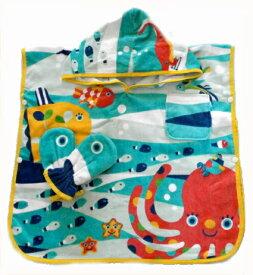 フード付きバスタオル フード付きポンチョ 湯上りタオル  海水浴 ベビータオル 出産祝い プール 海 水遊び お風呂上り ソルビーのギフト ミトン付き