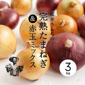 【産地直送】成井さんちの完熟たまねぎ3kg赤玉MIX|のしギフト不可【淡路島オニオンクラブ】