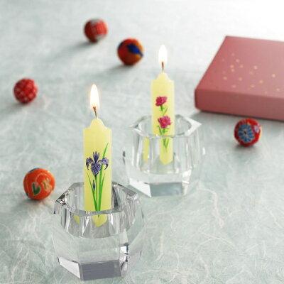 【メール便送料無料】進物蝋燭蜜蝋夕霧花ろうそく絵蝋燭