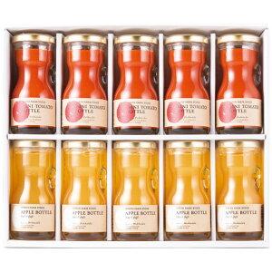 北海道野菜2種のジュースセット RTA-10 4244-032 RTA-10 7989052 Y_KO_ap 北海道産のミニトマトとりんごを丸ごと搾った味わい豊かなジュースセットです。 母の日 父の日 プレゼント ギフト 贈り物