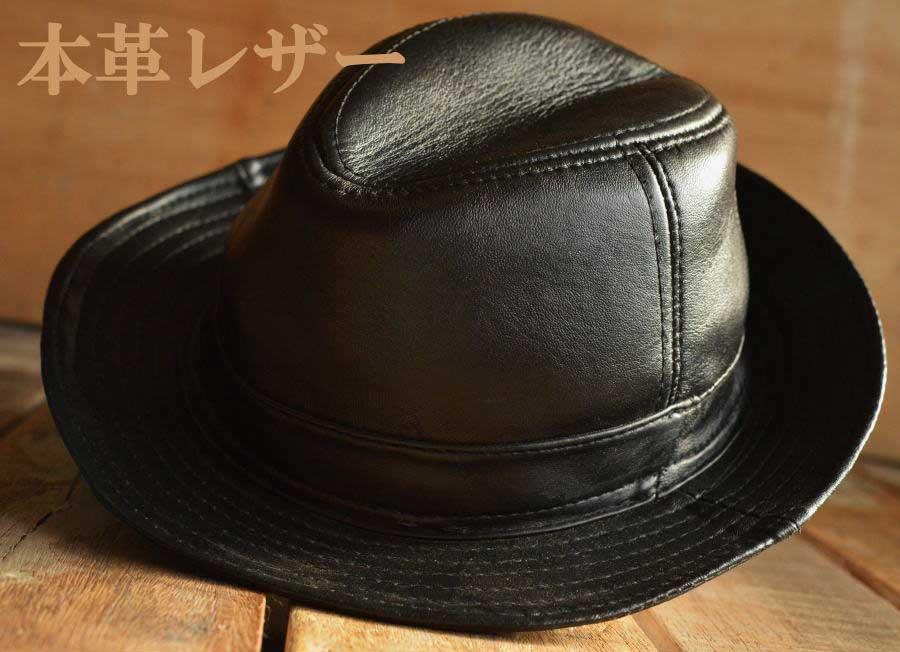 本革 レザー 中折れハット 帽子 メンズ 7998635【ALI】■05160914