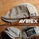 AVIREX アヴィレックス ハンチングキャップ メンズ 帽子 麻 ジュート リネン AX3GT10916【TOK】■05170522