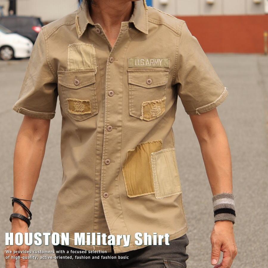 正規 HOUSTON ヒューストン Vintage ミリタリーシャツ メンズ 40H218【UNI】■02170813