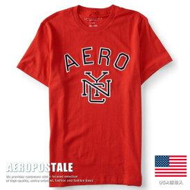 USA購入 エアロポステール Tシャツ アップリケ刺繍 メンズ AEROPOSTALE コットン 6005-9588-629■02170614