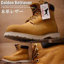 買わなきゃ損! 本革 レザー Golden Retriever 6インチ イエローブーツ ショートブーツ ブーツ ワークブーツ メンズ 3706