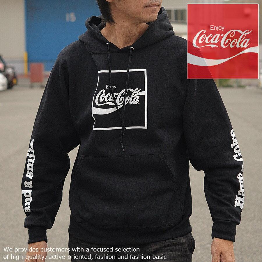 コラボ商品 コカ・コーラ FRUIT OF THE LOOM パーカー メンズ 長袖 コカコーラ 923-541CC32 フリース ブラック■05171011