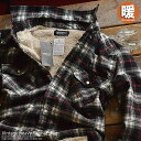 半端ない防寒性 ボアジャケット ネルシャツ メンズ シャツ ジャケット Vintage 厚手 81720 着る毛布■04171008