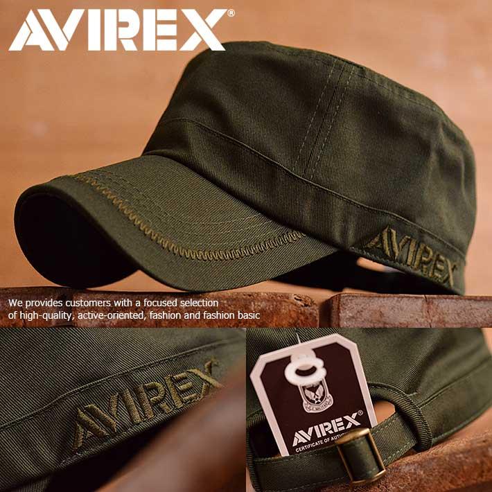 AVIREX アヴィレックス ワークキャップ キャップ 帽子 メンズ レディース ミリタリー 14916800-35 カーキ【GAL】■180228