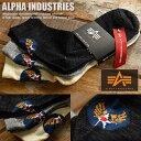3足セット 正規 ALPHA INDUSTRIES Inc ソックス メンズ 25〜27cm 靴下 クォーター丈 10408900 ■20171125