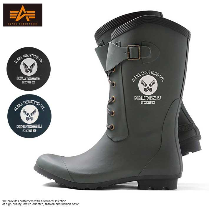 Alpha Industries アルファ インダストリーズ レインブーツ 長靴 メンズ AF_R4000【Y_KO】【SHA】【Sのみ追加】