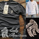EallyAmericansロンT長袖TシャツメンズGILDAN米国メーカー国内プリントワンポイント923-510KRブラックグレーホワイトMLXL