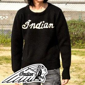 Indian Motocycle セーター メンズ ブランド 1940年代復刻スタイル インディアンモトサイクル ブラック 黒 IK-670 IN 181101