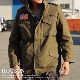 ジャケット メンズ ブランド HOUSTON M-65 アウター デニム ミリタリー ヒューストン 3WAY オリーブ カーキ 50613 181126