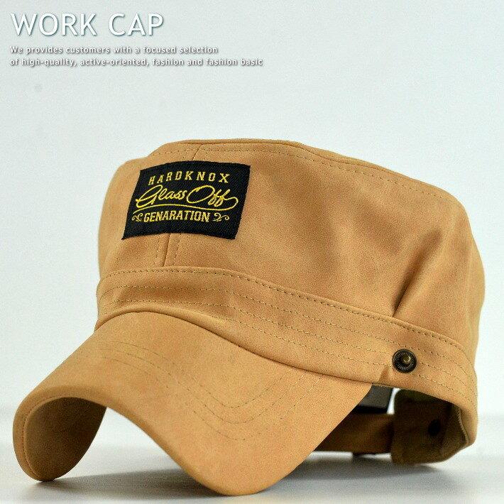ワークキャップ メンズ レディース 送料無料 帽子 キャップ メンズ PU レザー ベージュ VA1-055 GRI 181129-2