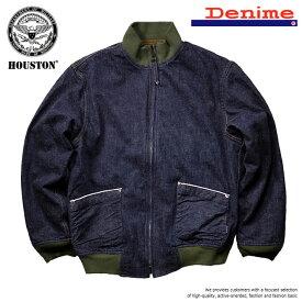 ジャケット メンズ ブランド 正規品 HOUSTON ドゥニーム DENIME 2018年秋冬モデル 日本製 タンカースジャケット 12oz デニムジャケット 防寒 ミリタリー アメカジ メンズ デニム 50807 UNI 181214 Y_KO