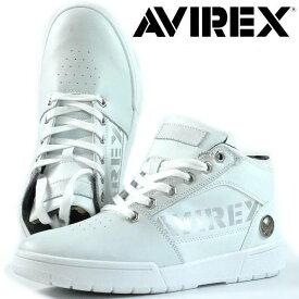AVIREX ブーツ スニーカー メンズ 2019年 NEWモデル AV1262 THUNDER STORM 靴 シューズ アヴィレックス サンダーストーム ホワイト 190315