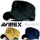 【期間限定10%OFF!】ワークキャップ メンズ 帽子 大きいサイズ キャップ ブランド アメカジ アビレックス AVIREX ア…