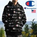パーカーメンズチャンピオンCHAMPION送料無料ブランド厚手プルオーバーオーバーサイズトレーナー長袖アメカジ総柄派手大きいサイズ12オンスCL-19S2974ブラック黒191103
