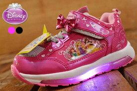 Disney princess 光る靴 ディズニー プリンセス アリエル ラプンツェル ベル スニーカー シューズ キッズ 女の子 子供靴 運動靴 軽量 Y_KO 7224