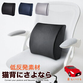 【猫背にならない】ランバーサポート シートクッション クッション 低反発 カークッション 車用 背もたれクッション 福袋 健康クッション 背当てクッション 腰痛対策クッション 背中 通気性 疲れない 運転 デスクワーク オフィス チェア 椅子 7990474