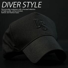 キャップ 帽子 メンズ レディース 刺繍 シンプル DIVER STYLE DS おしゃれ DS-3060 ブラック 黒